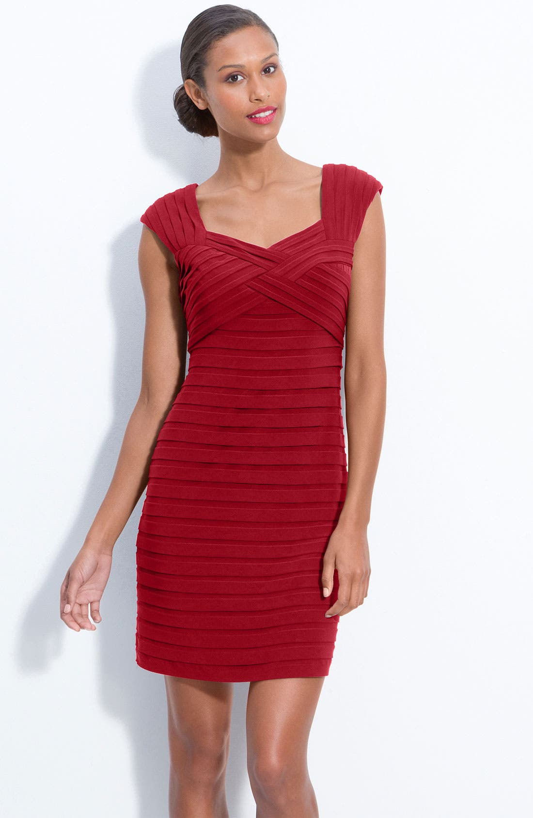Alternate Image 1 Selected - Adrianna Papell Pleated Sheath Dress