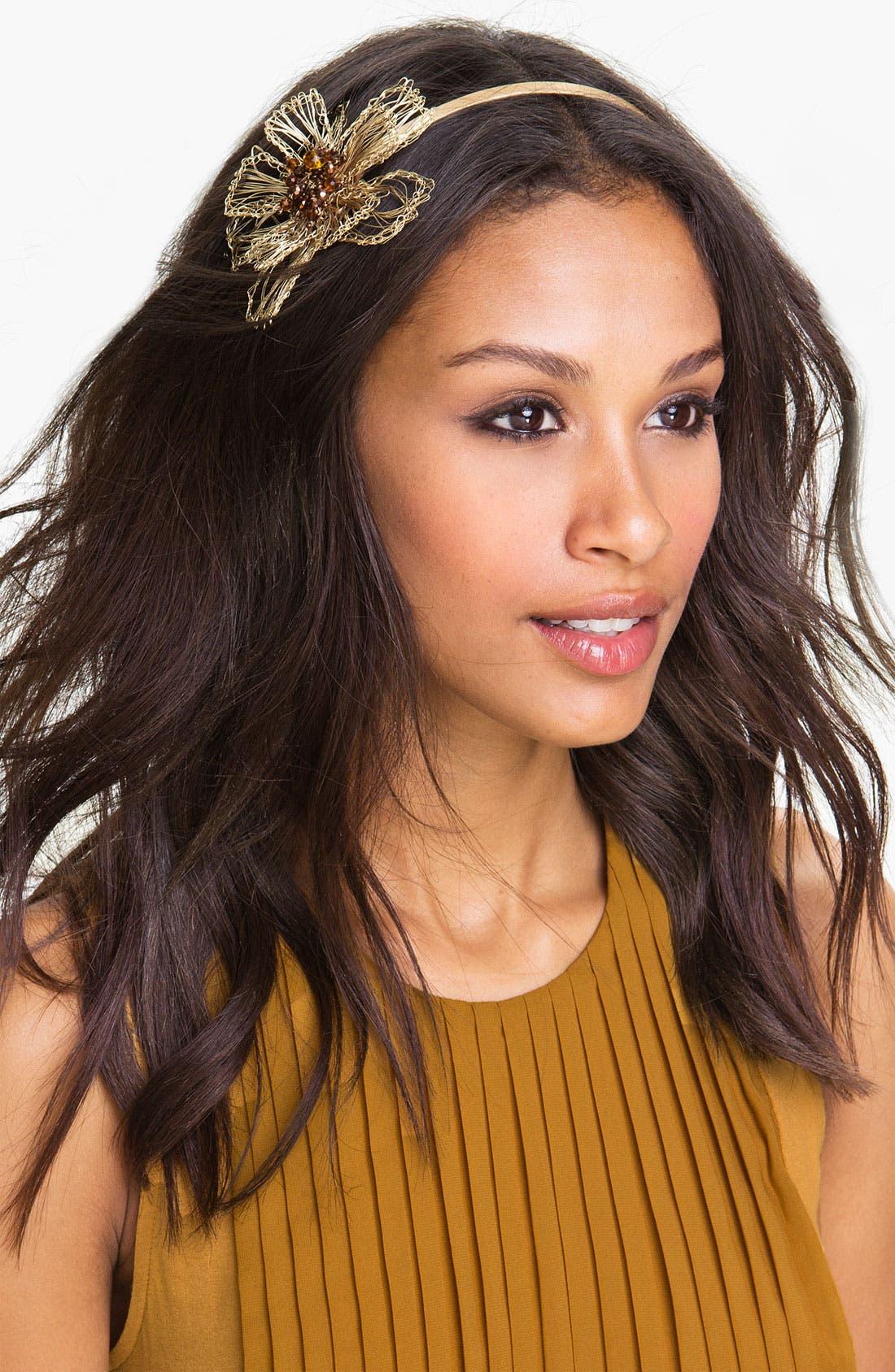 Main Image - Tasha Woven Wire Flower Headband