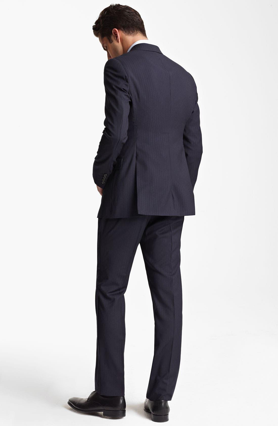 Alternate Image 3  - Armani Collezioni Trim Fit Stripe Suit