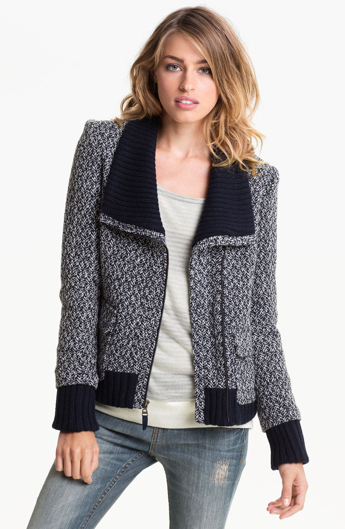 Main Image - Splendid 'Margaux' Tweed Bomber Jacket