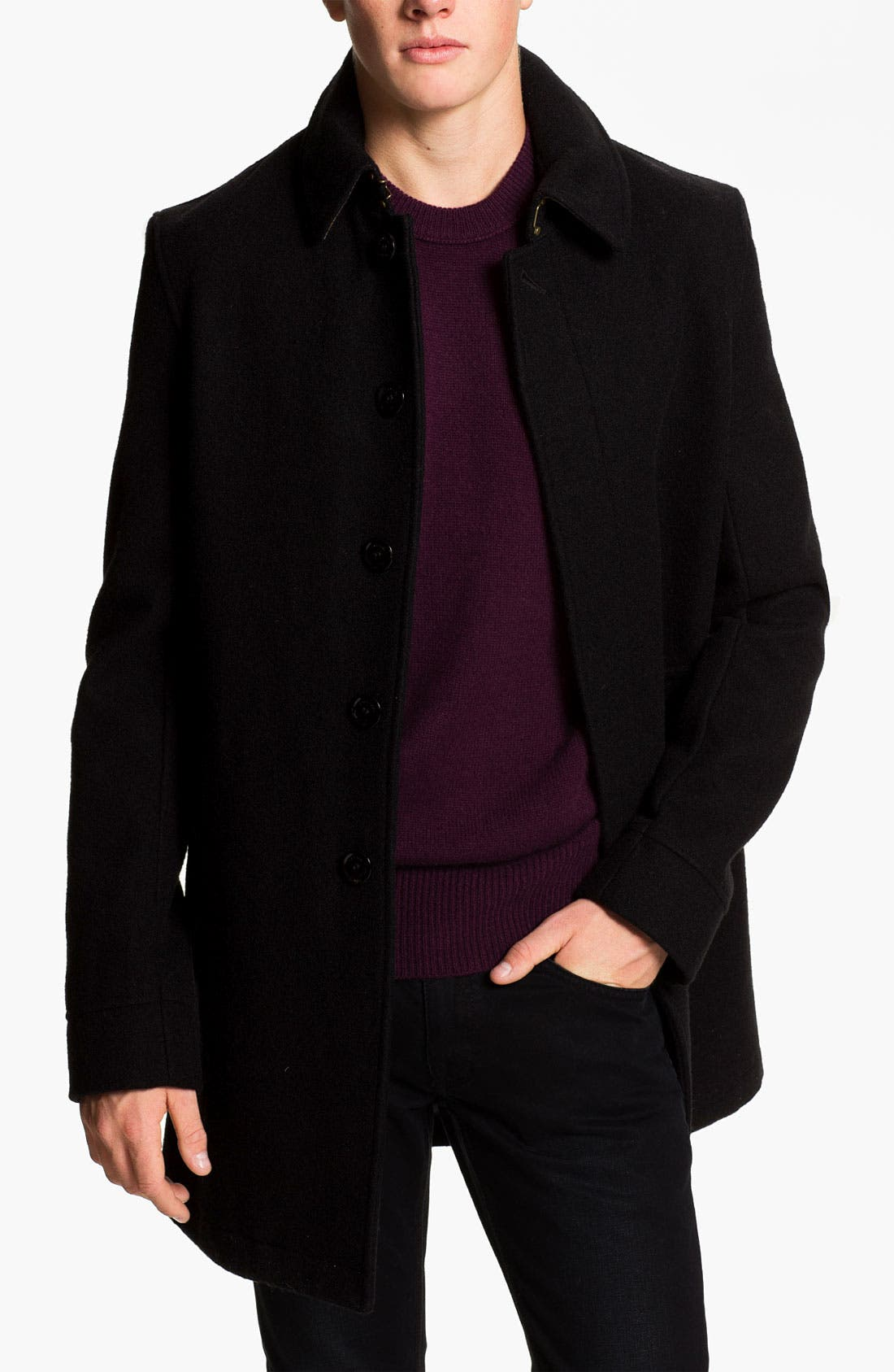 Alternate Image 1 Selected - Burberry Brit Wool Blend Car Coat