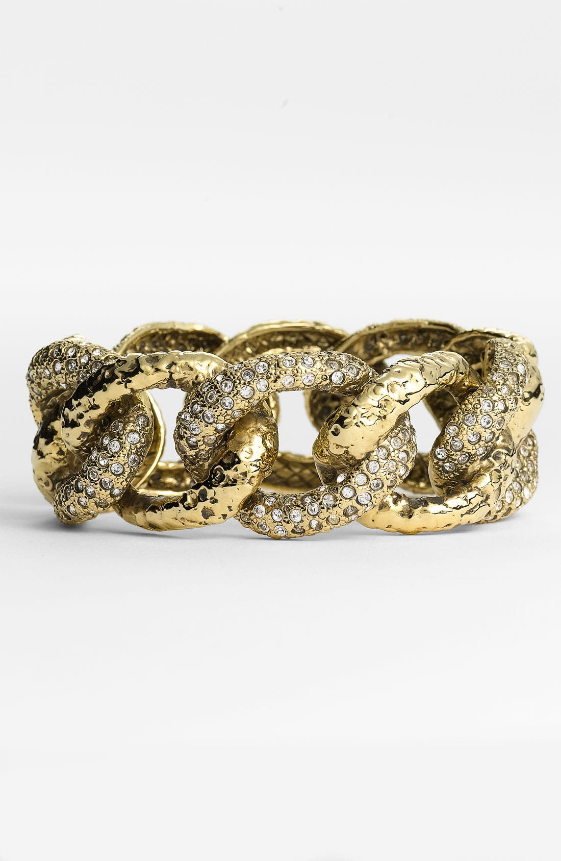 Alternate Image 1 Selected - St. John Collection Antique Gold & Crystal Cuff