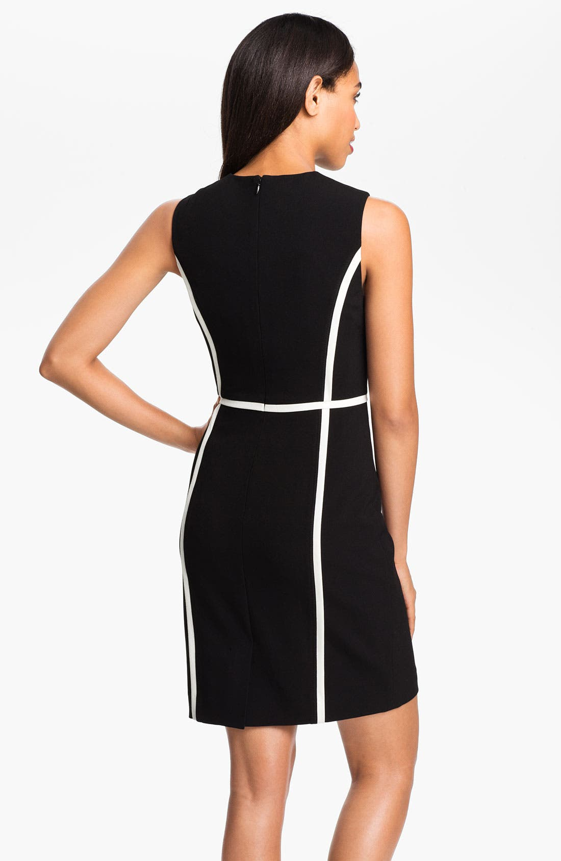 Alternate Image 2  - Calvin Klein Contrast Trim Sheath Dress