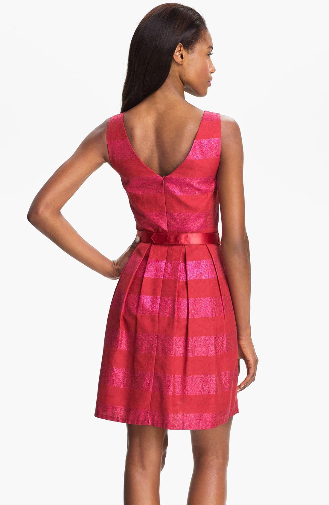 Alternate Image 2  - Trina Turk 'Domino' Metallic Stripe Jacquard Fit & Flare Dress