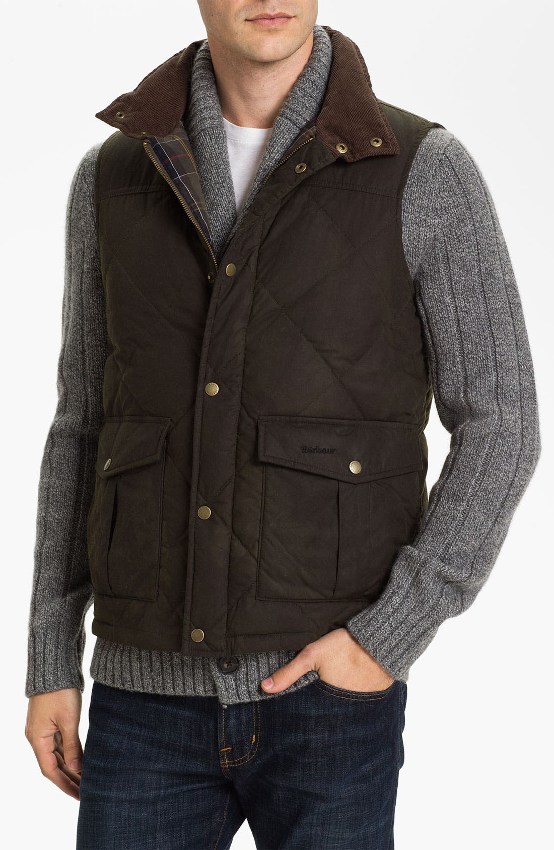 Alternate Image 1 Selected - Barbour Quilted Feather Vest