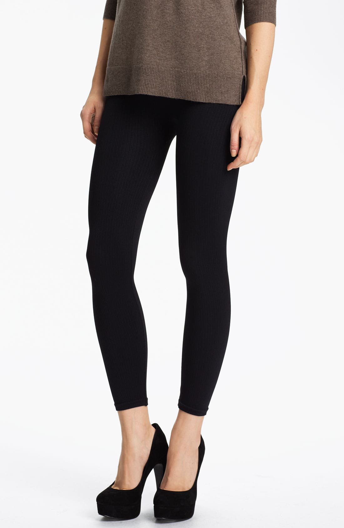 Alternate Image 1 Selected - SPANX® 'Look at Me' Ribbed Leggings