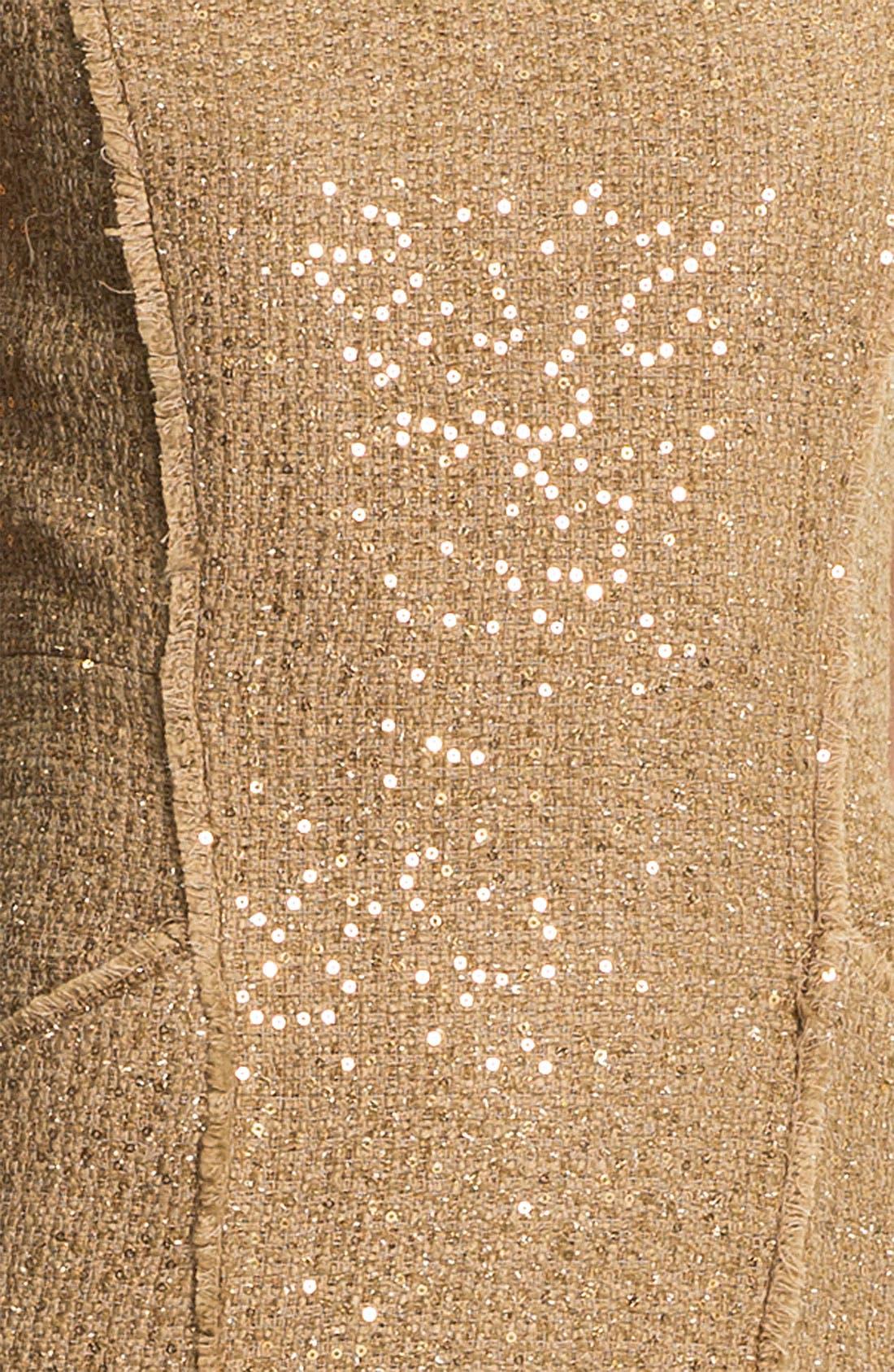 Alternate Image 3  - MICHAEL Michael Kors Fray Edge Sheath Dress (Petite)