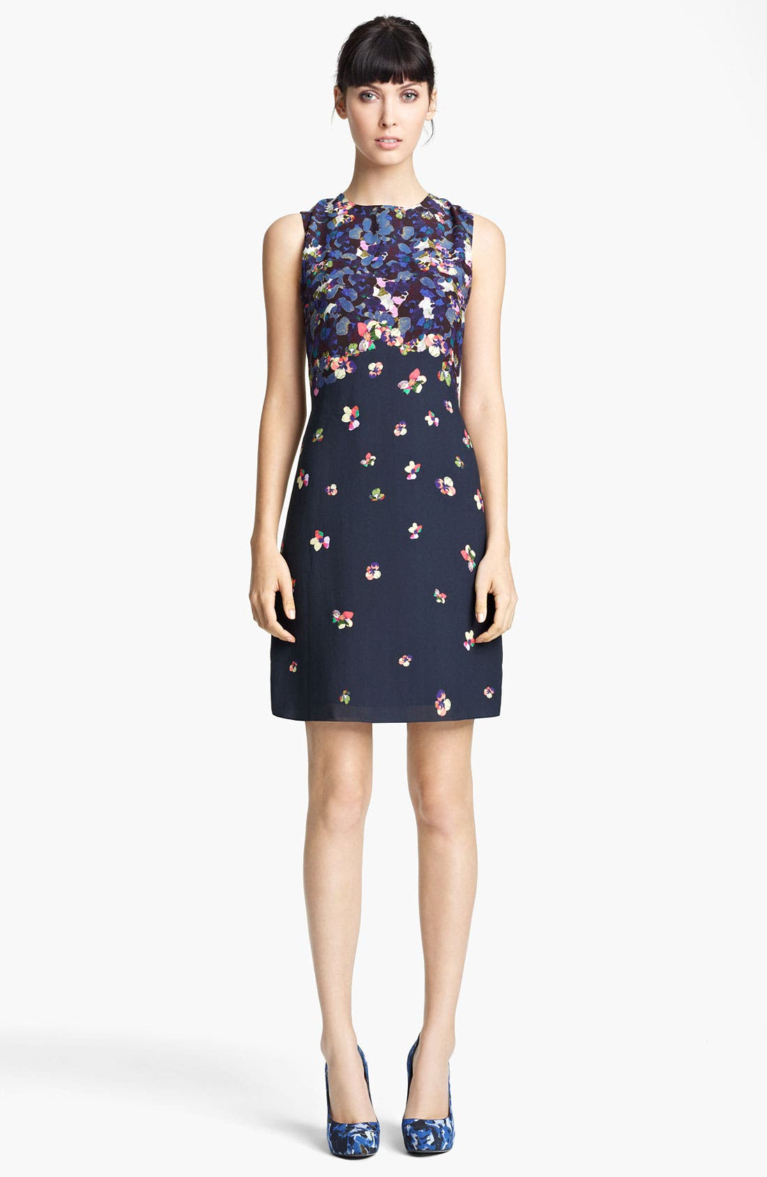 Alternate Image 1 Selected - Erdem Print Sleeveless Shift Dress