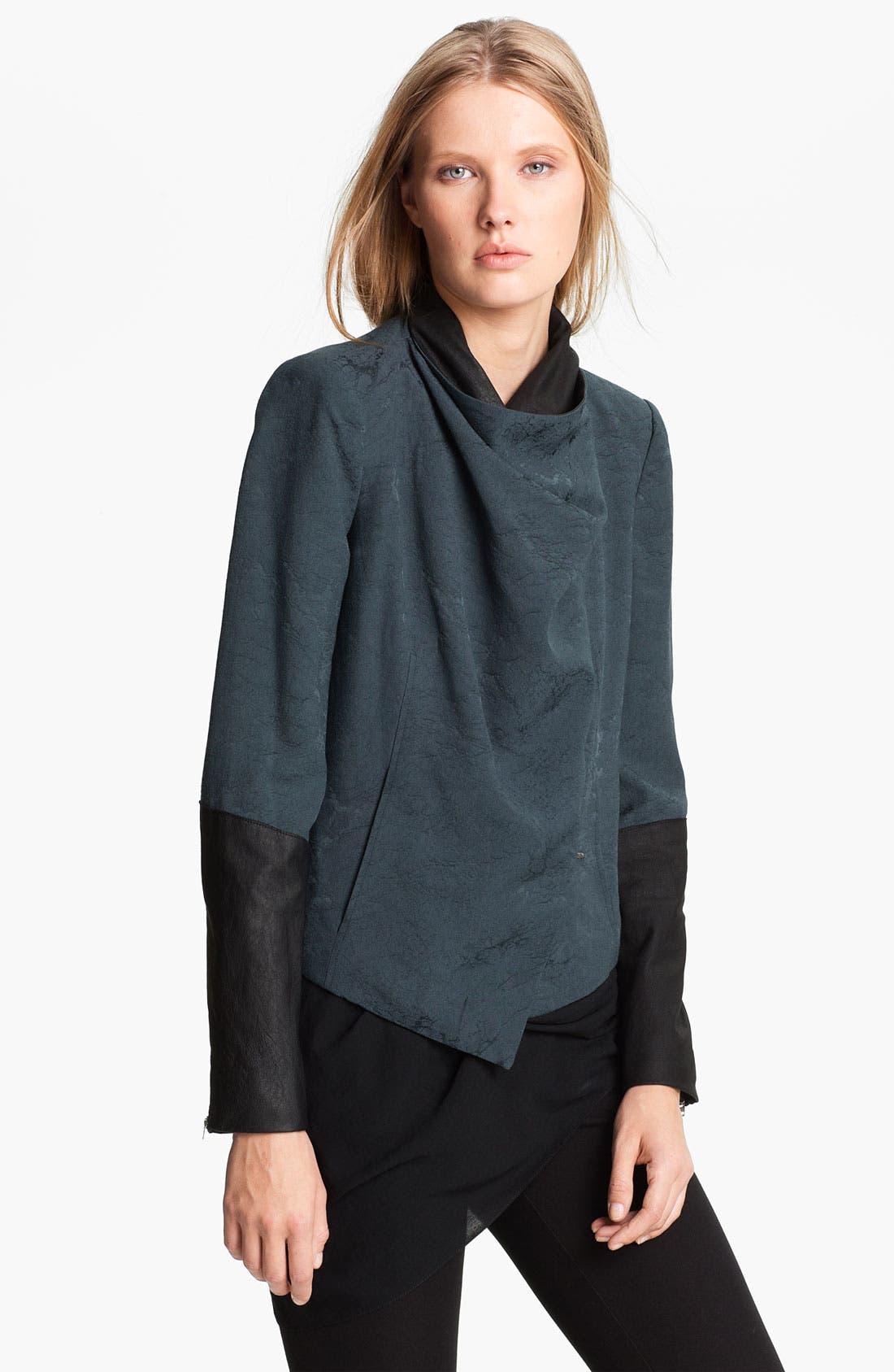 Alternate Image 4  - Helmut Lang 'Perma' Jacquard & Leather Jacket