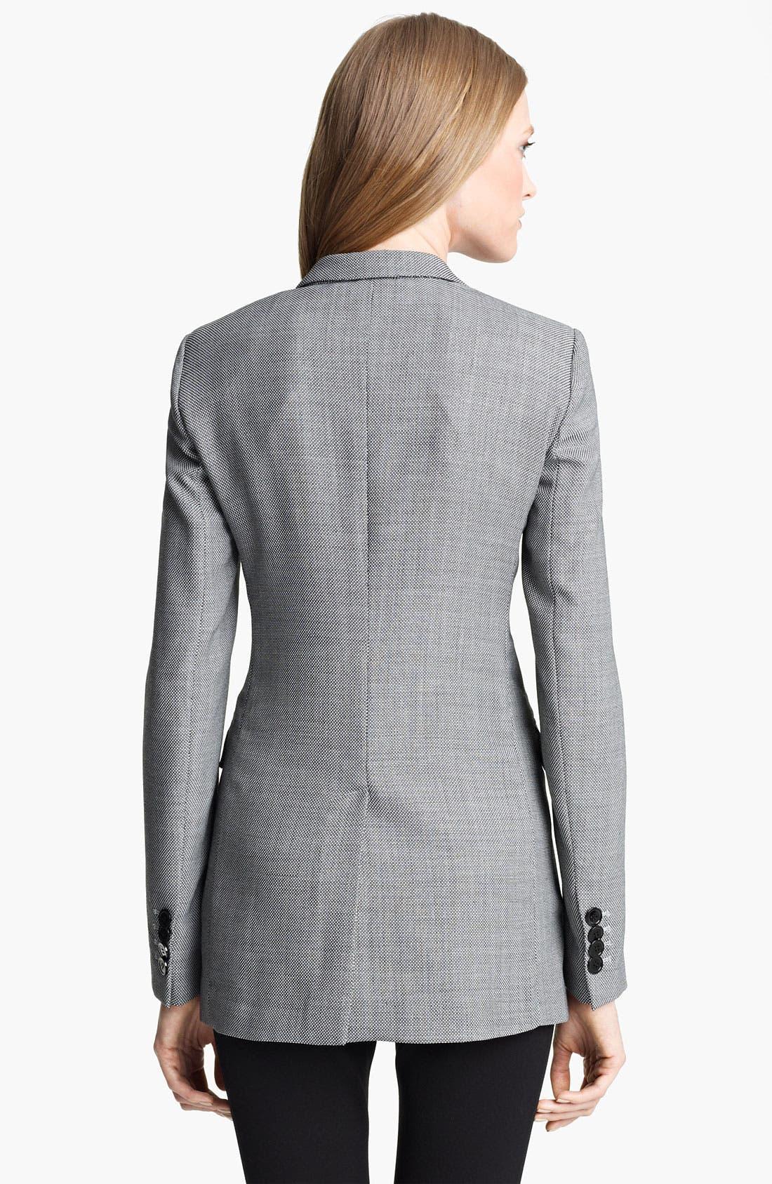 Alternate Image 2  - Armani Collezioni Long Bird's Eye Jacket