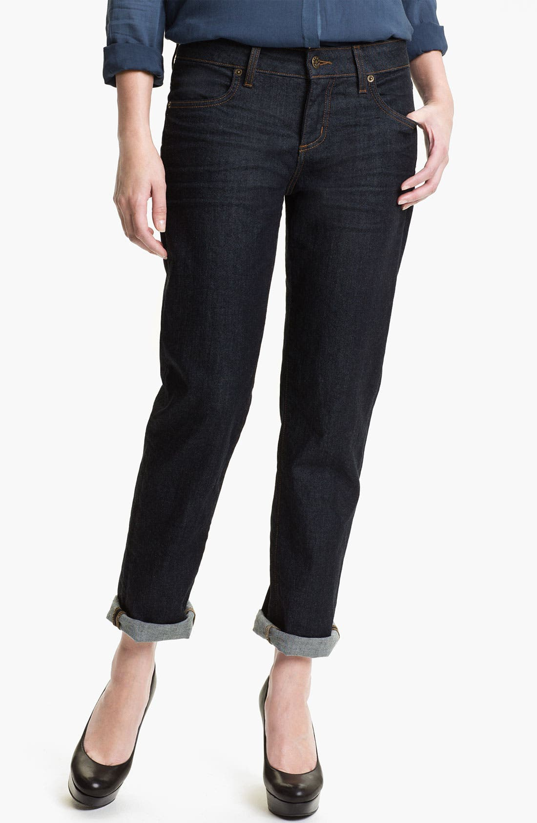 Main Image - Blue Essence Boyfriend Jeans (Dark Canadian) (Nordstrom Exclusive)