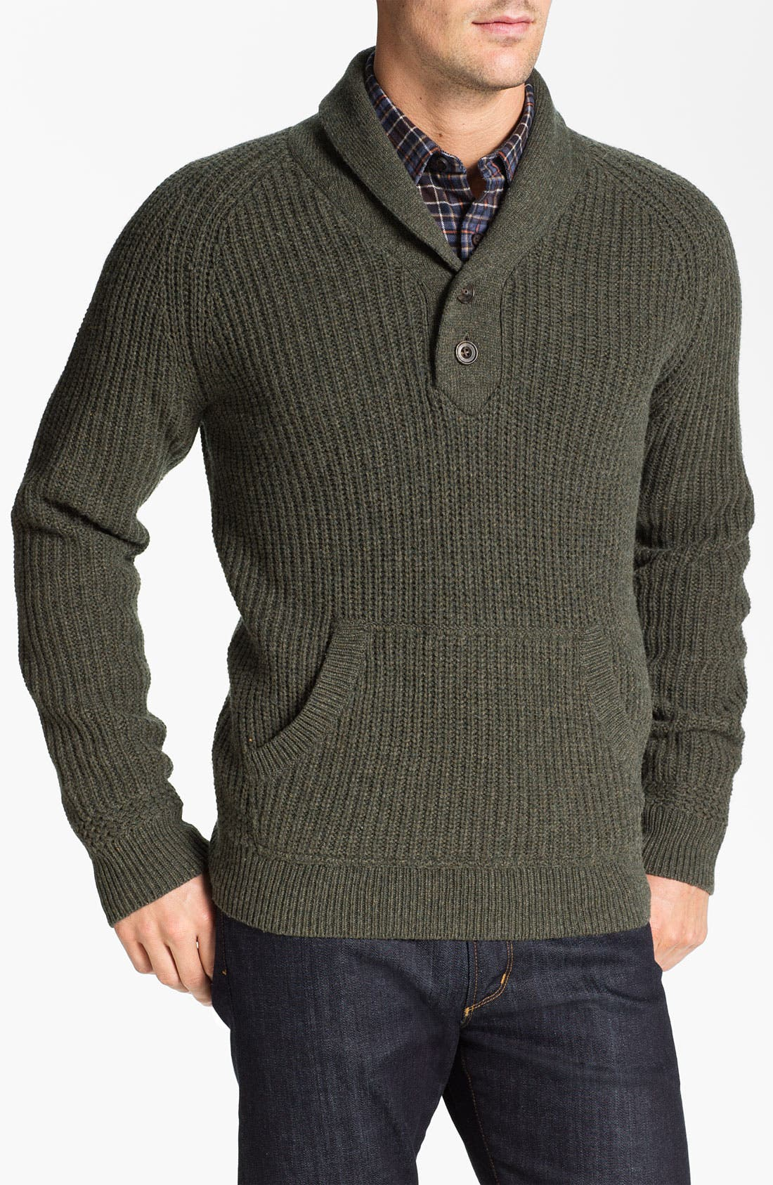Alternate Image 1 Selected - Wallin & Bros. Shawl Collar Merino Wool Blend Sweater