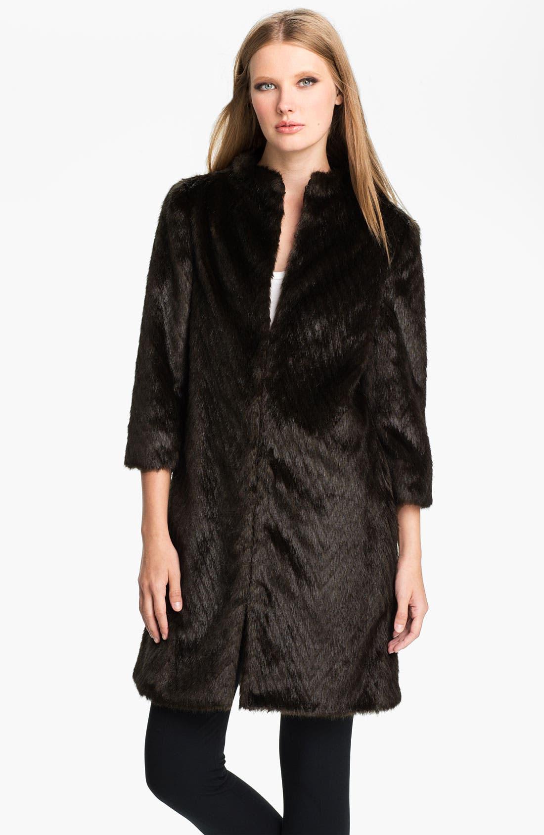Main Image - Ted Baker London Faux Fur Coat