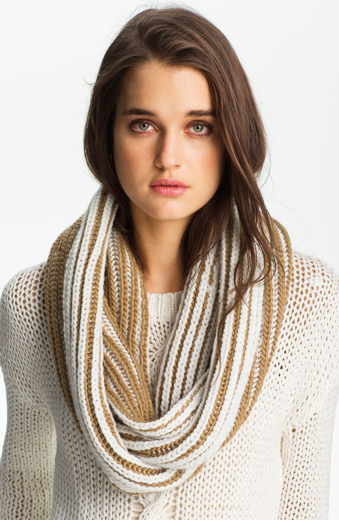 Alternate Image 1 Selected - MICHAEL Michael Kors Vertical Stripe Infinity Scarf