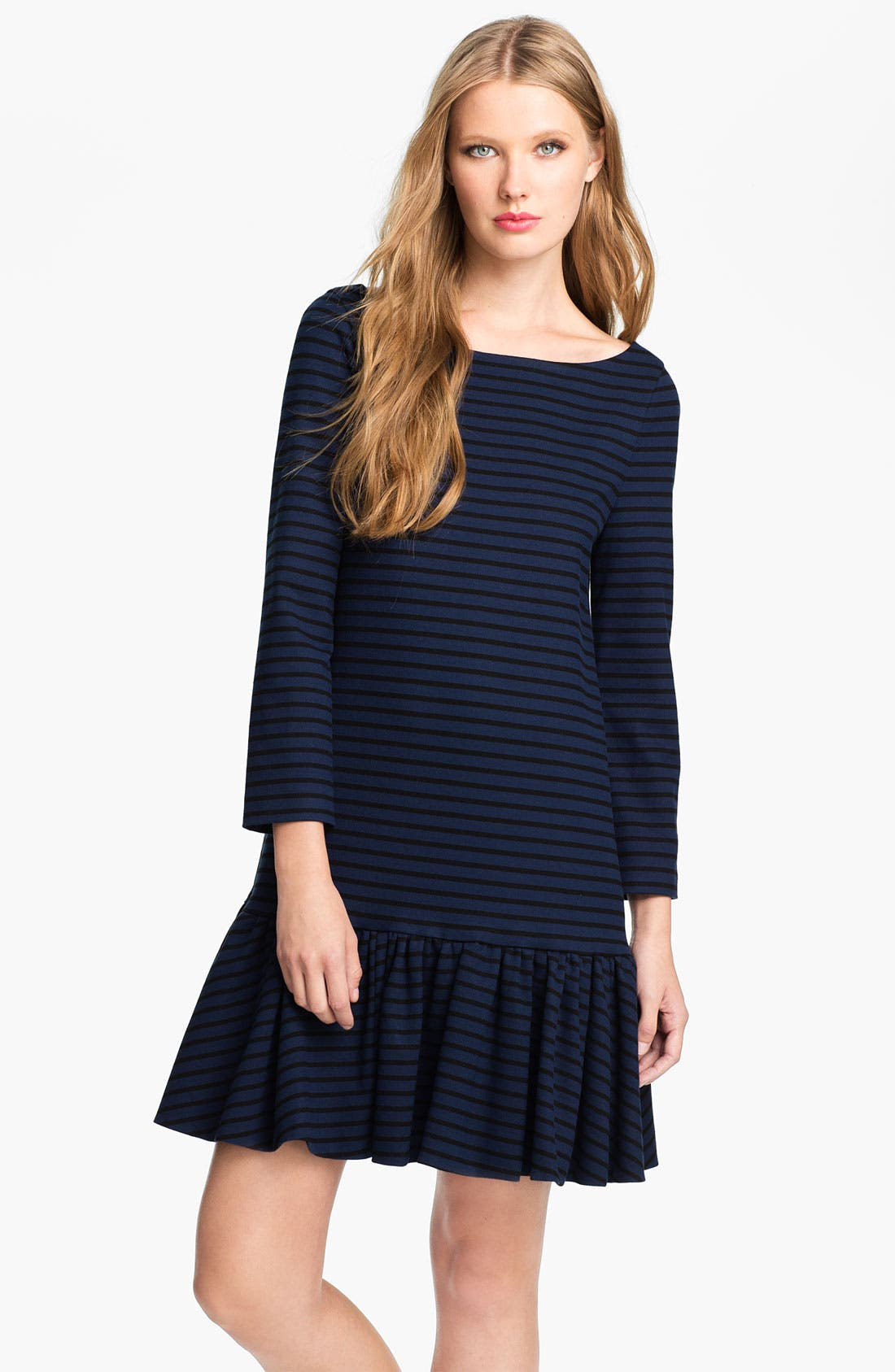 Alternate Image 1 Selected - kate spade new york 'burke' stripe shift dress