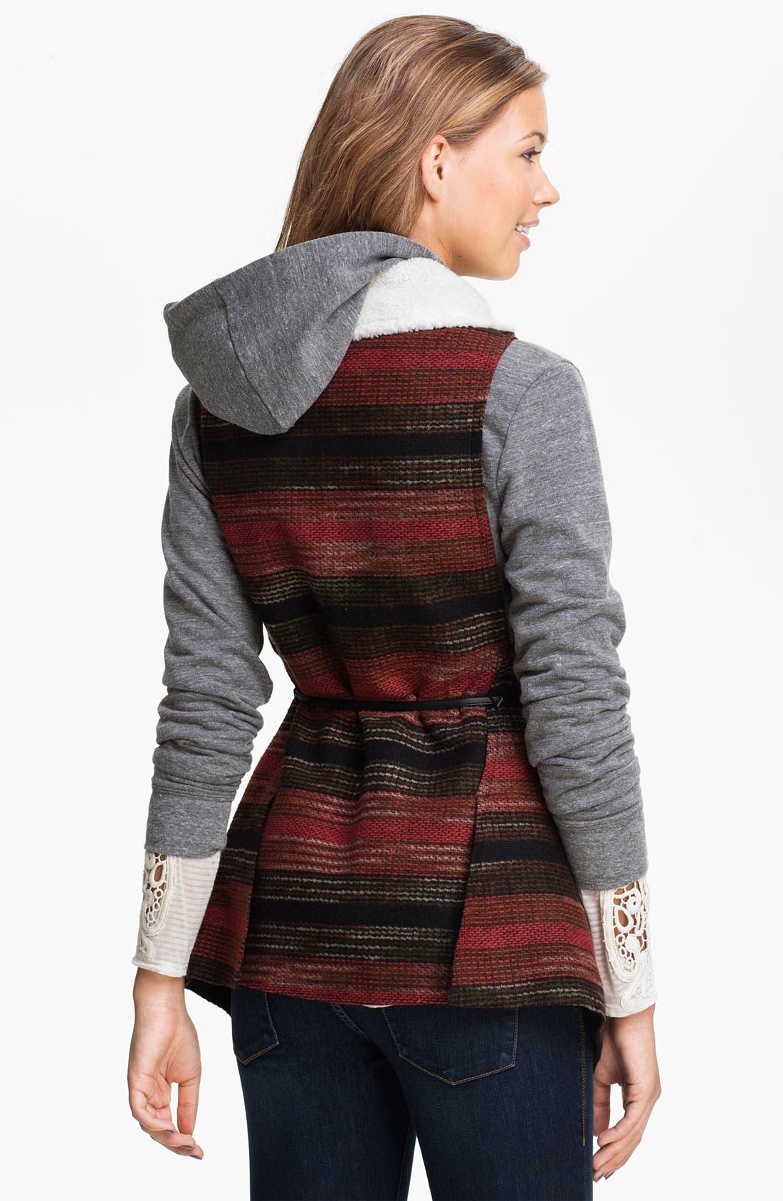 Alternate Image 2  - Jolt Southwestern Blanket Vest (Juniors)