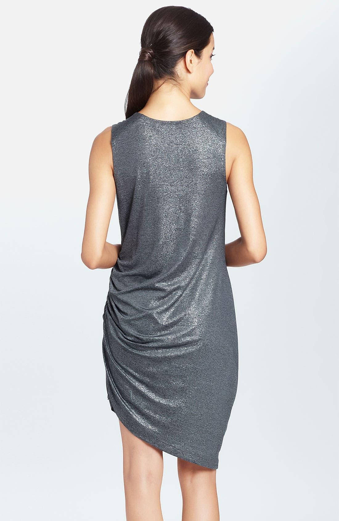 Alternate Image 2  - Cynthia Steffe 'Rianna' Side Zip Metallic Dress