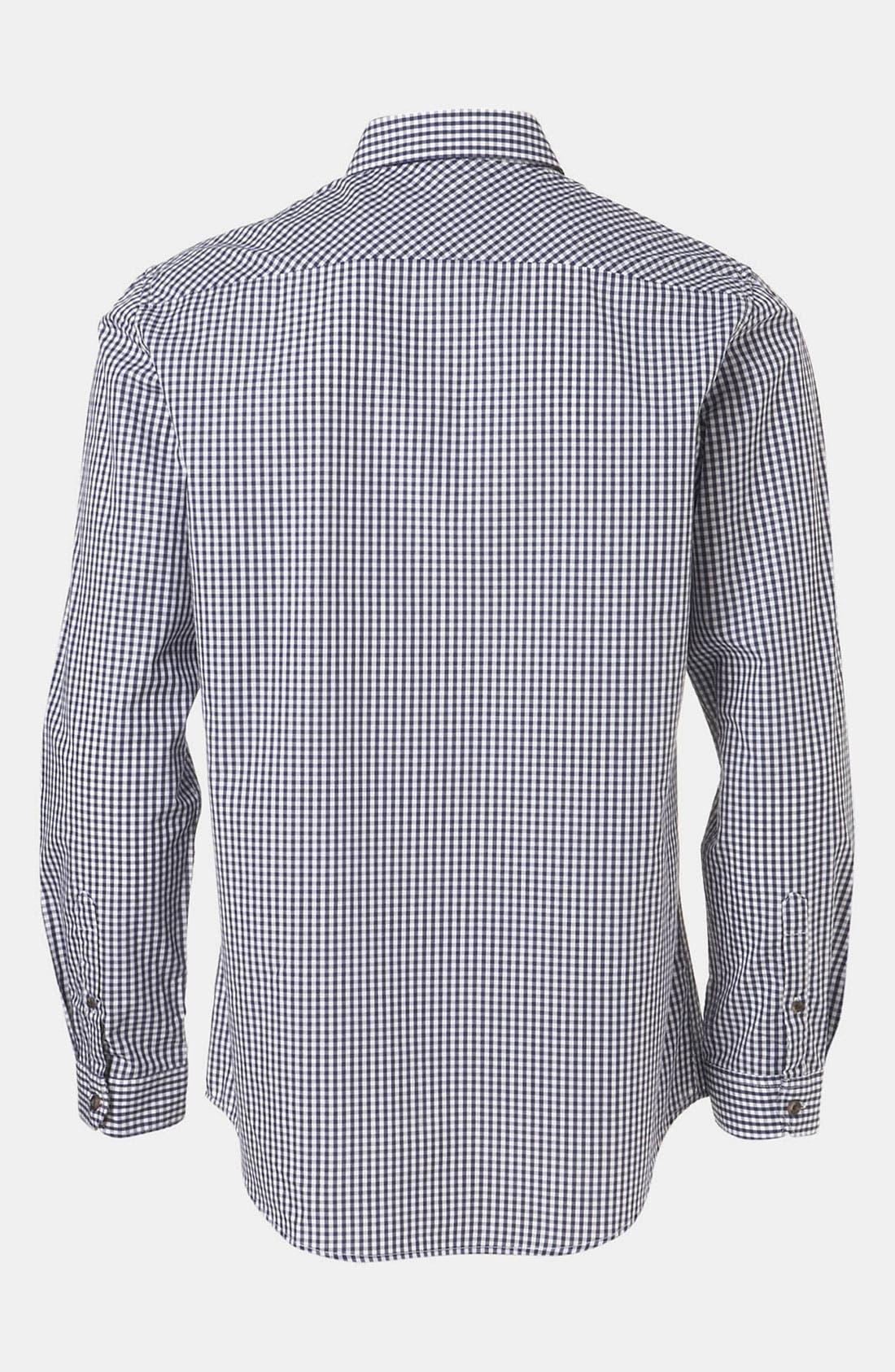 Alternate Image 2  - Topman Extra Trim Gingham Check Shirt