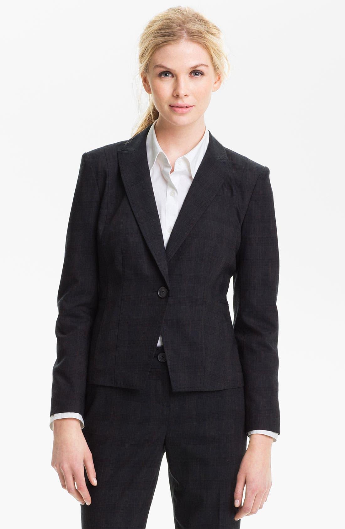 Alternate Image 1 Selected - Halogen® Plaid Jacket (Petite)