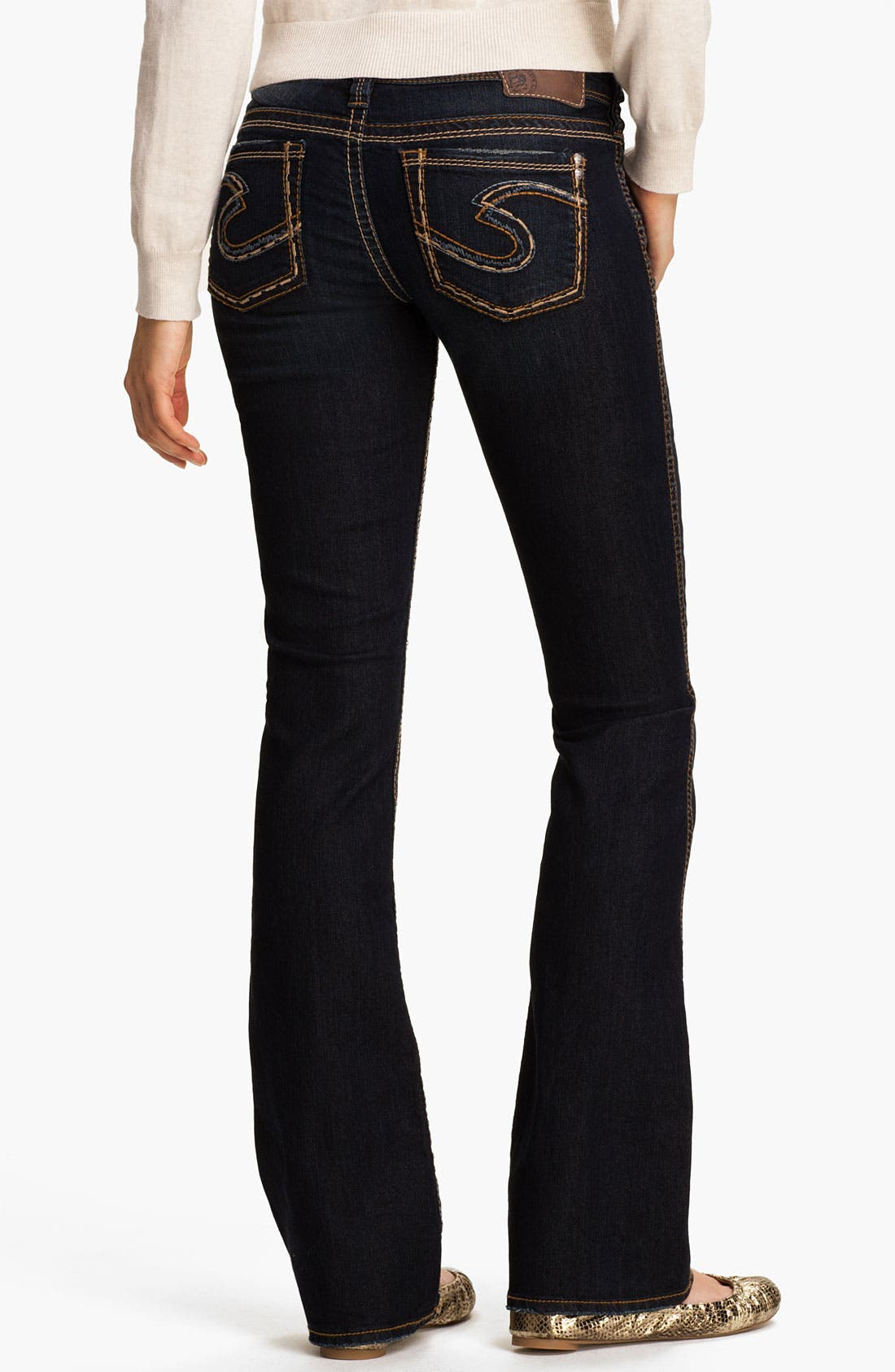 Alternate Image 1 Selected - Silver Jeans Co. 'Frances' Bootcut Jeans (Juniors)