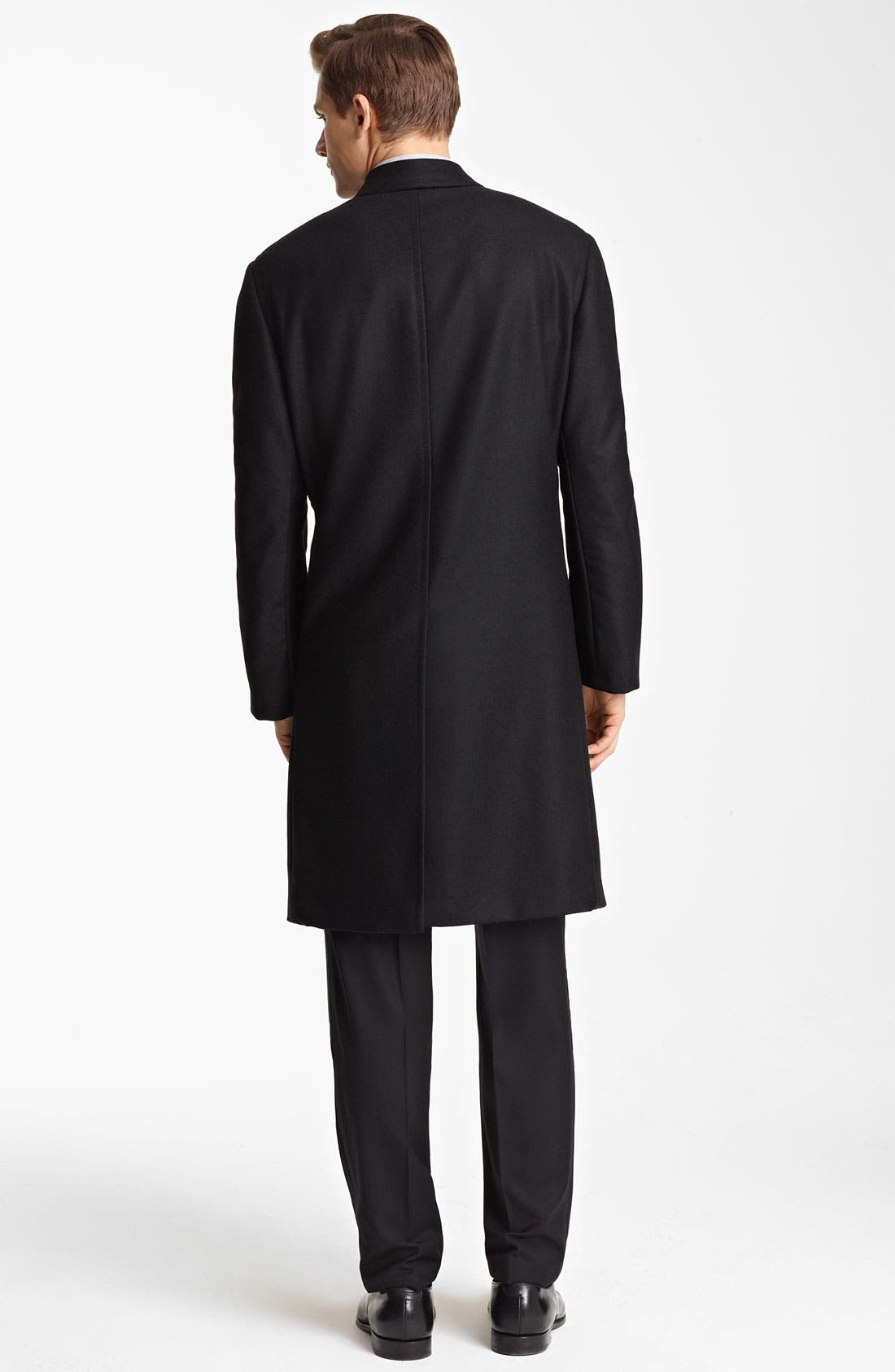 Alternate Image 2  - Canali Wool Top Coat