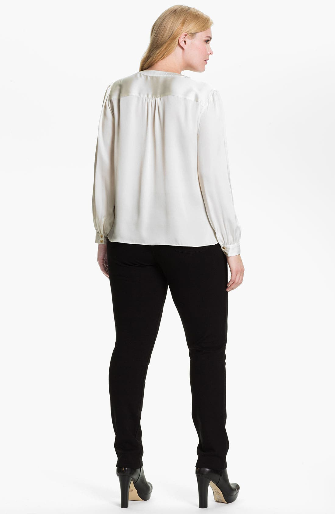 Alternate Image 4  - Eileen Fisher Skinny Ponte Knit Pants (Plus)
