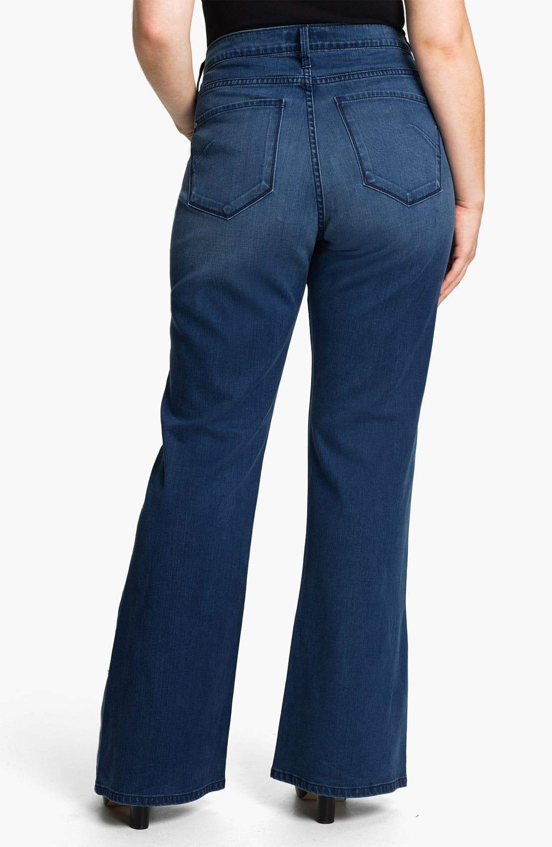Alternate Image 2  - James Jeans Broken In High Rise Flare Leg Jeans (Plus)