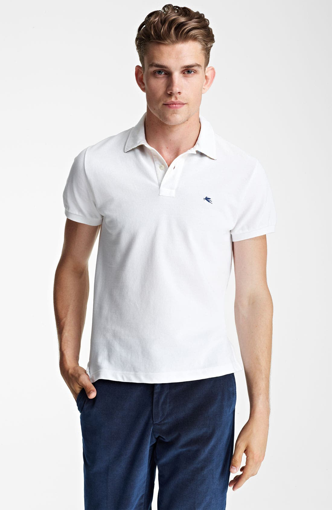 Main Image - Etro Paisley Trimmed Polo