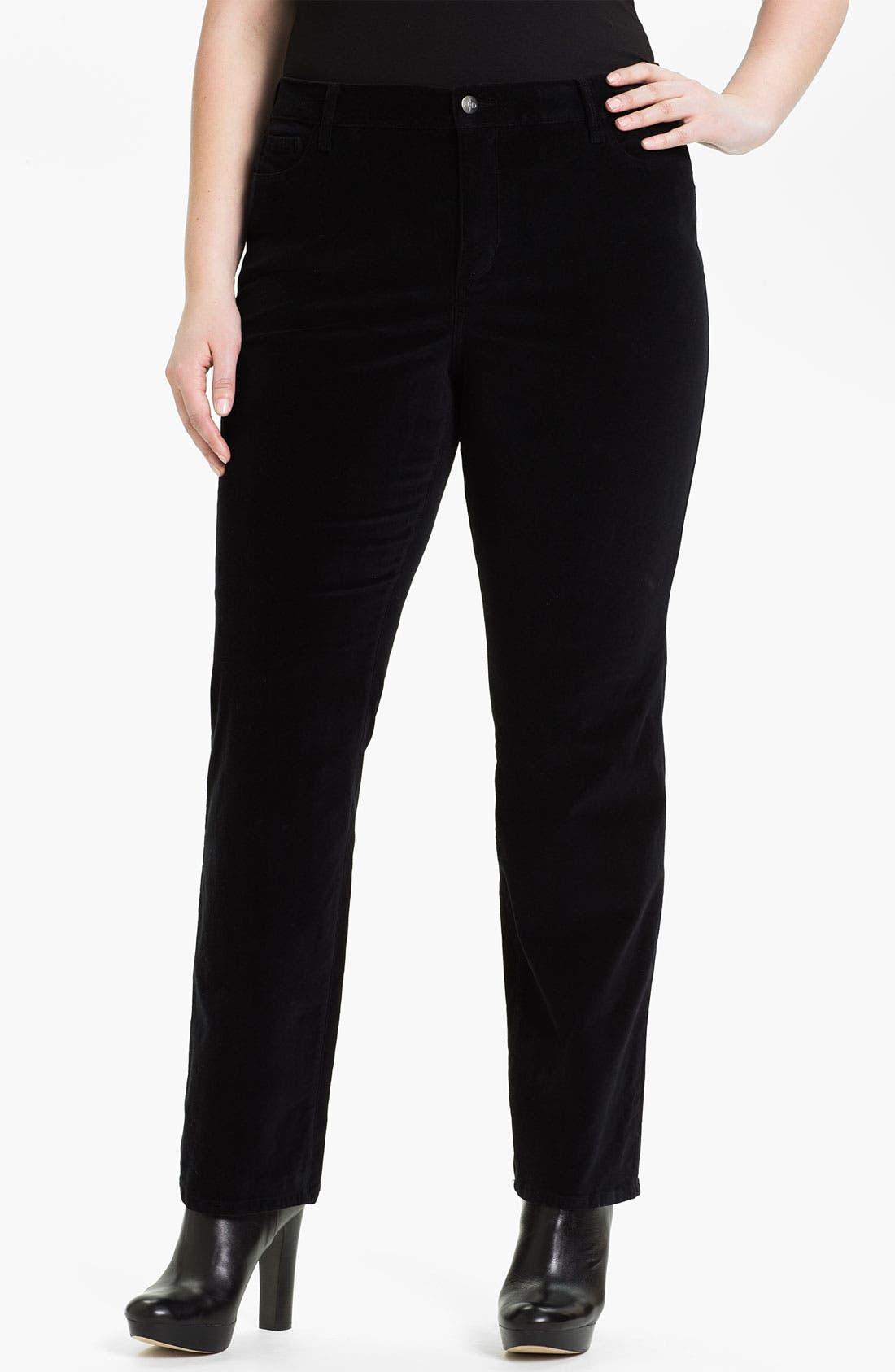 Main Image - NYDJ 'Sheri' Skinny Stretch Velveteen Jeans (Plus)