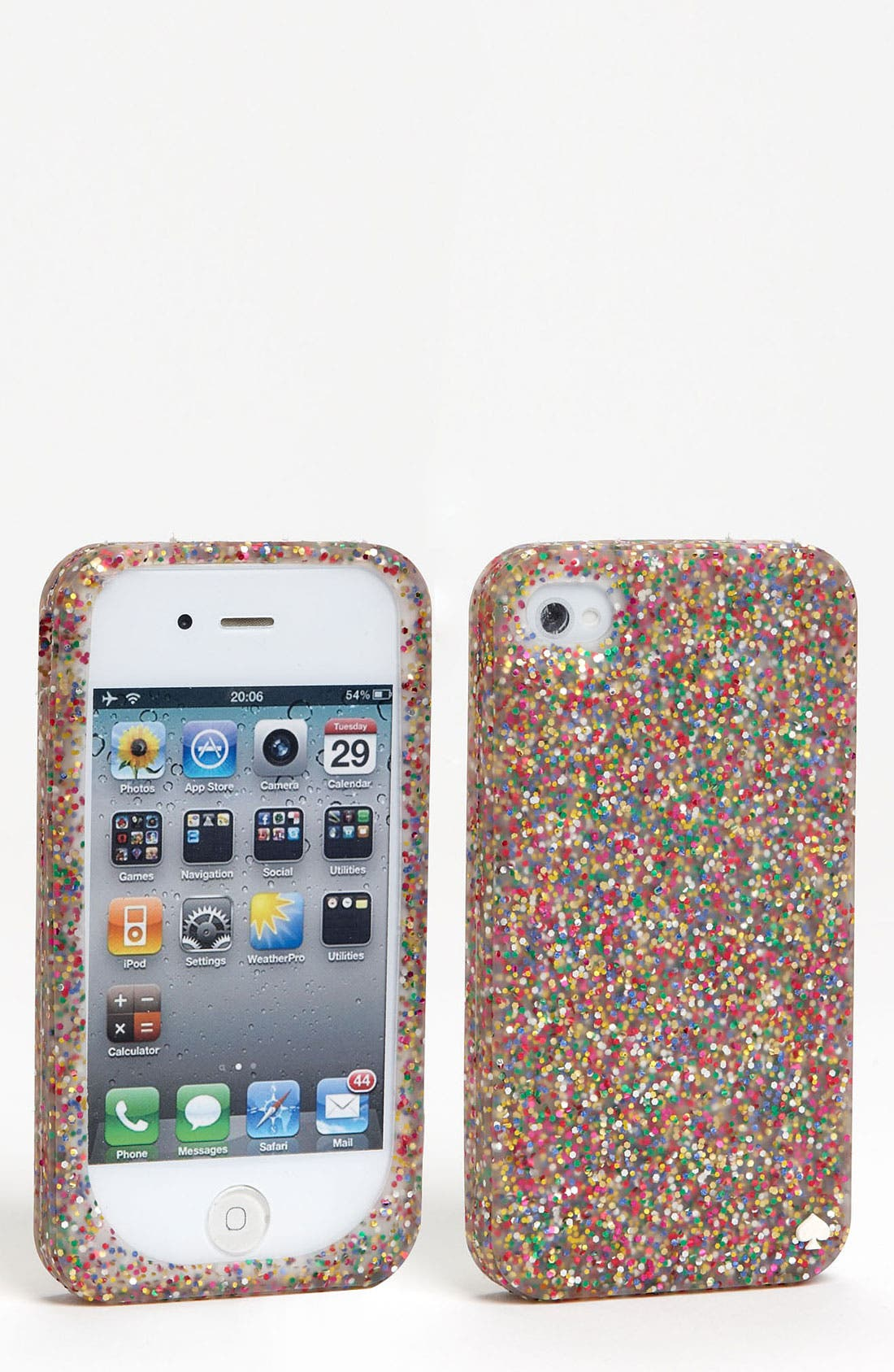 Alternate Image 1 Selected - kate spade new york glitter silicone iPhone 4 & 4s case