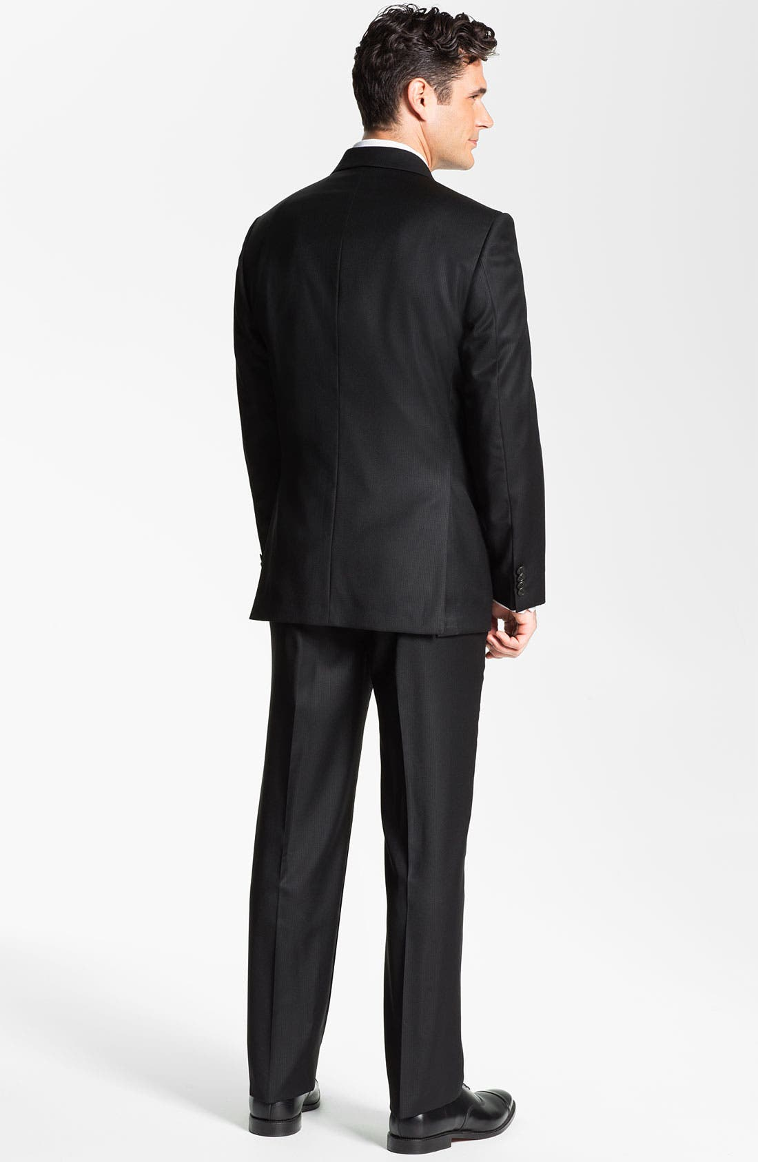 Alternate Image 3  - Joseph Abboud Black Wool Suit