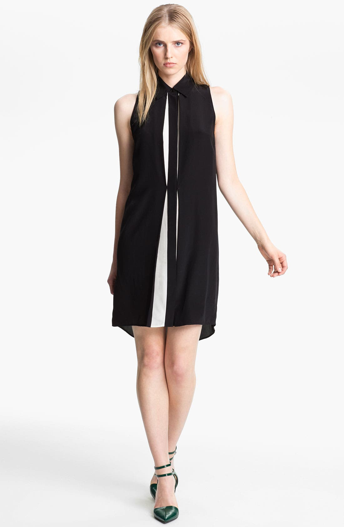 Alternate Image 1 Selected - Alexander Wang Bicolor Sleeveless Shirtdress