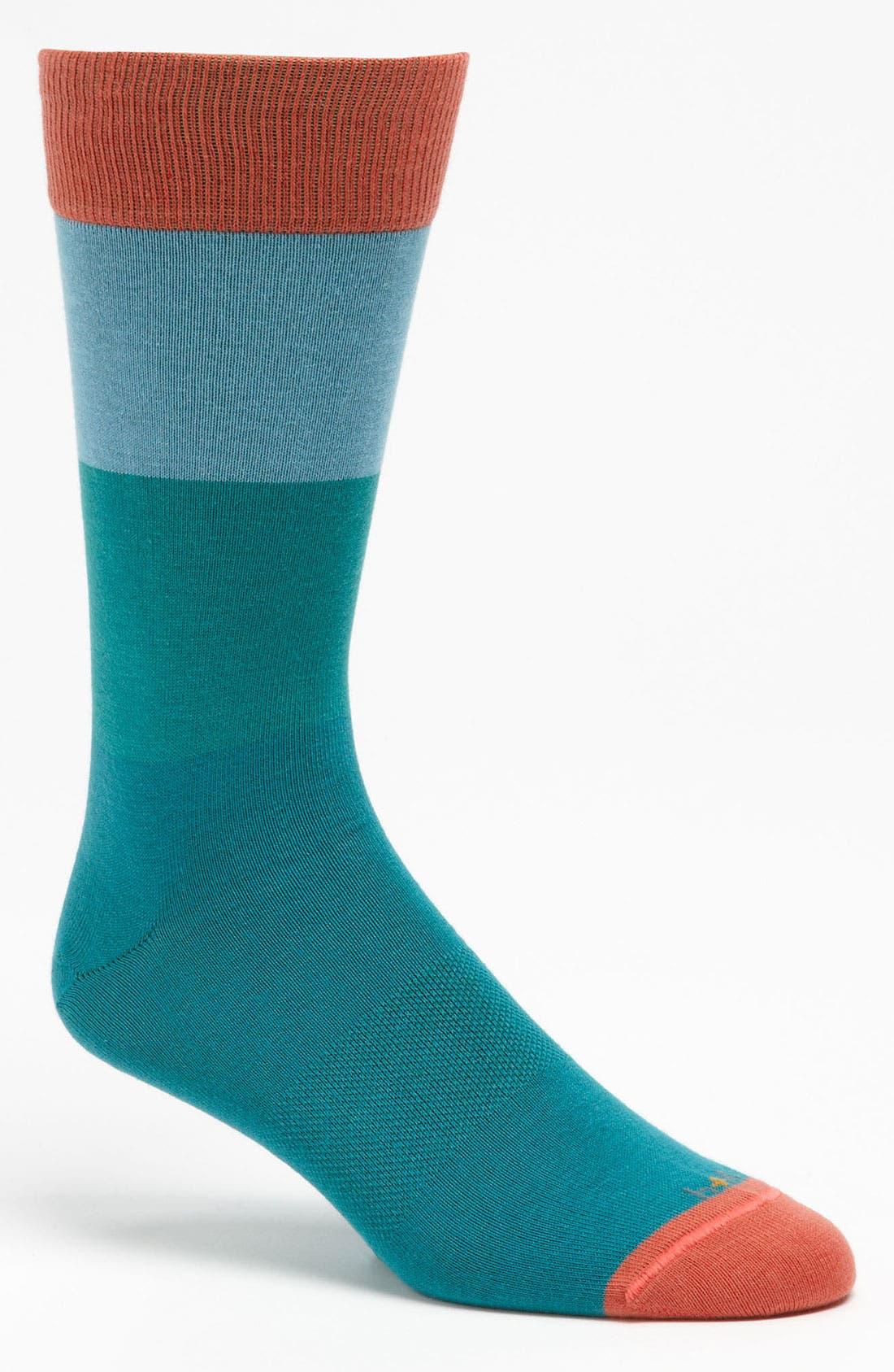 Alternate Image 1 Selected - hook + ALBERT Tiered Stripe Socks