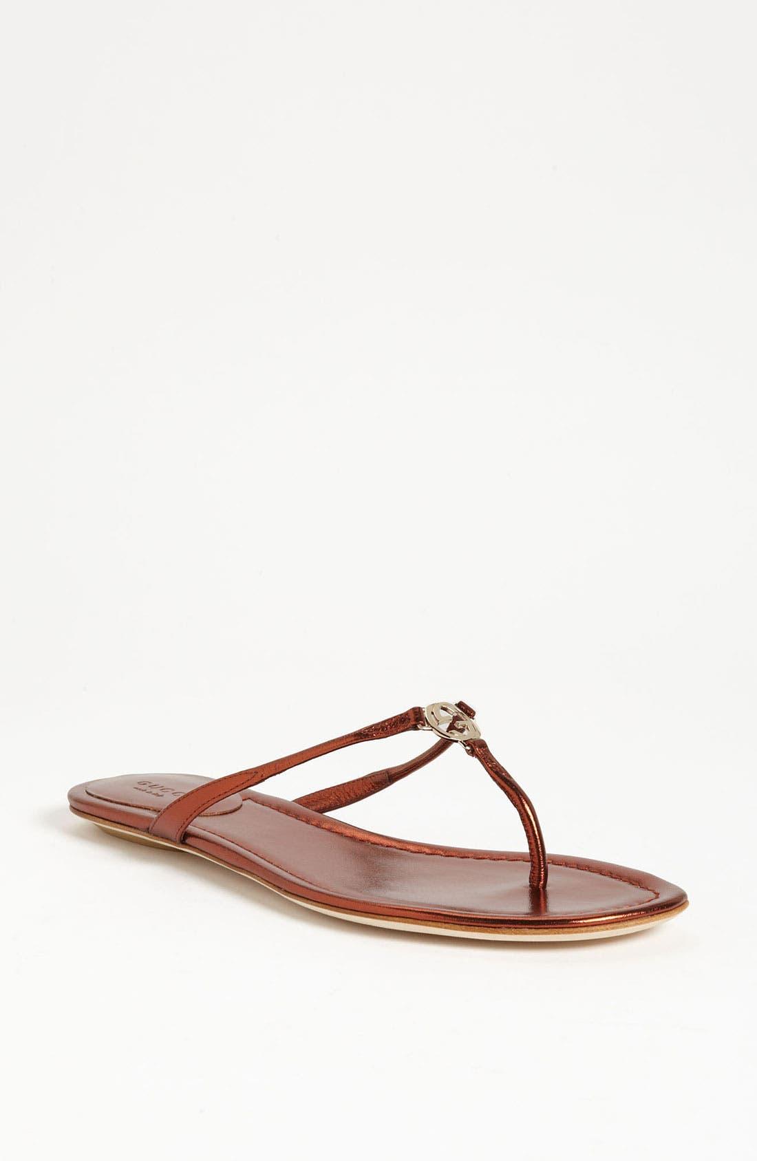 Alternate Image 1 Selected - Gucci 'Elaine' Thong Sandal