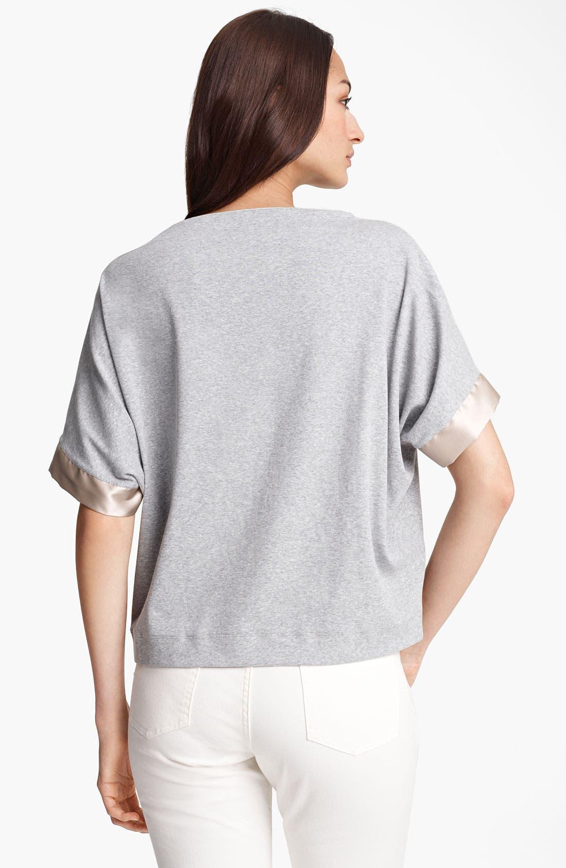 Alternate Image 2  - Fabiana Filippi Rib Knit Jersey Top