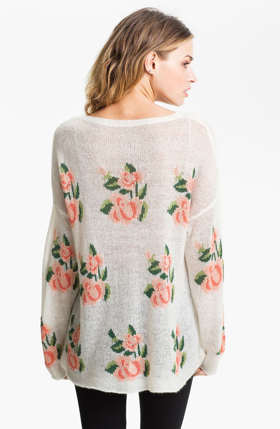 Alternate Image 2  - Wildfox Rose Slouchy Sweater