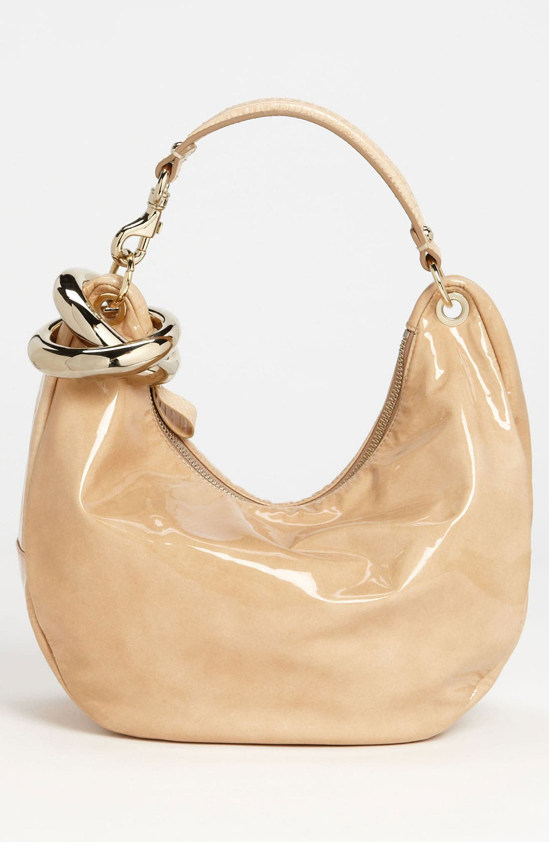 Alternate Image 4  - Jimmy Choo 'Solar - Small' Patent Leather Hobo