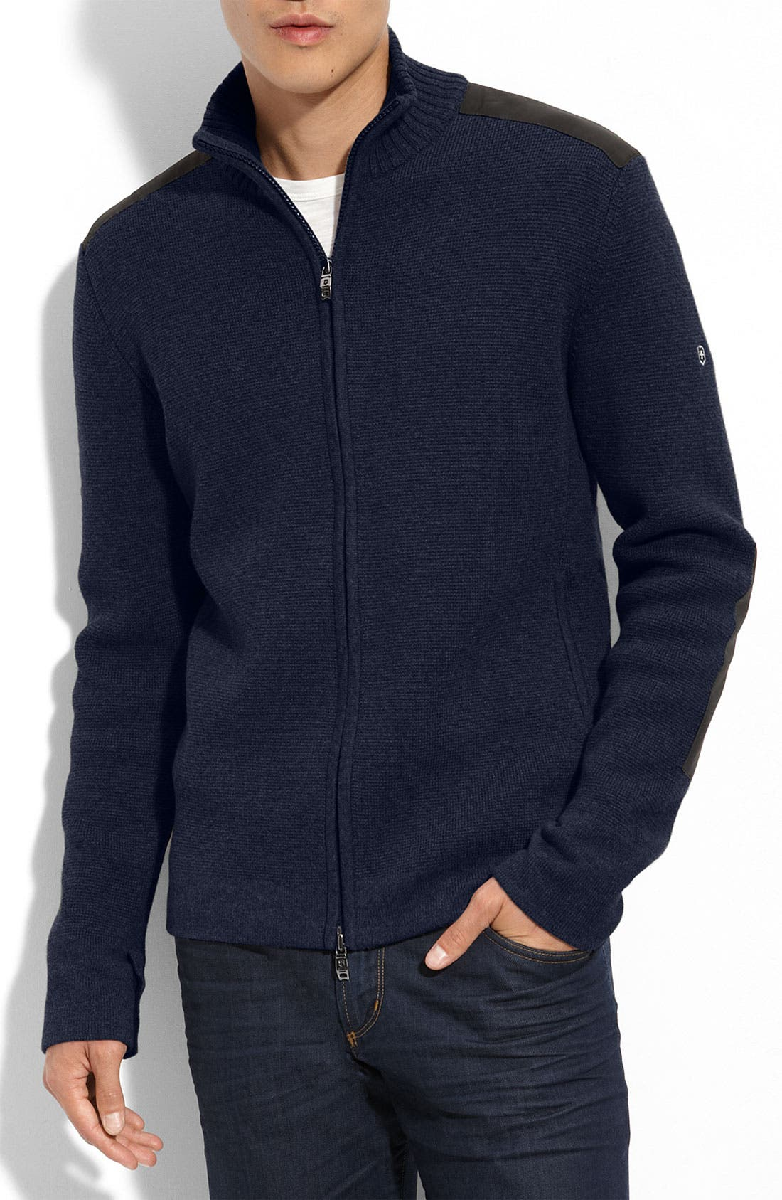 Main Image - Victorinox Swiss Army® 'Mahale' Stretch Cotton Cardigan (Online Only)
