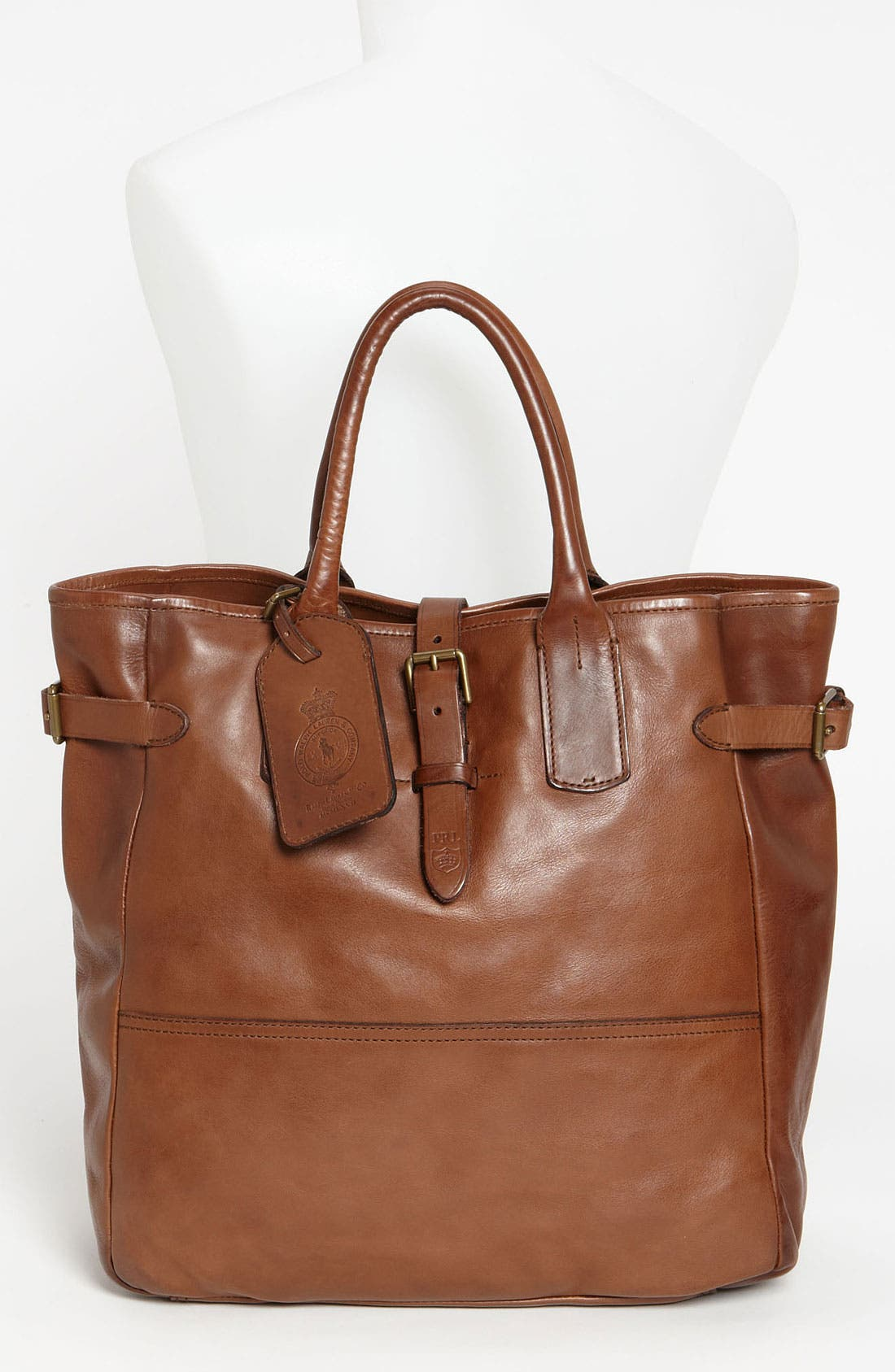 Alternate Image 2  - Polo Ralph Lauren Leather Tote