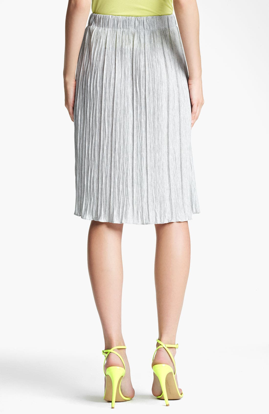 Alternate Image 2  - Lida Baday Plissé Stretch Jersey Skirt