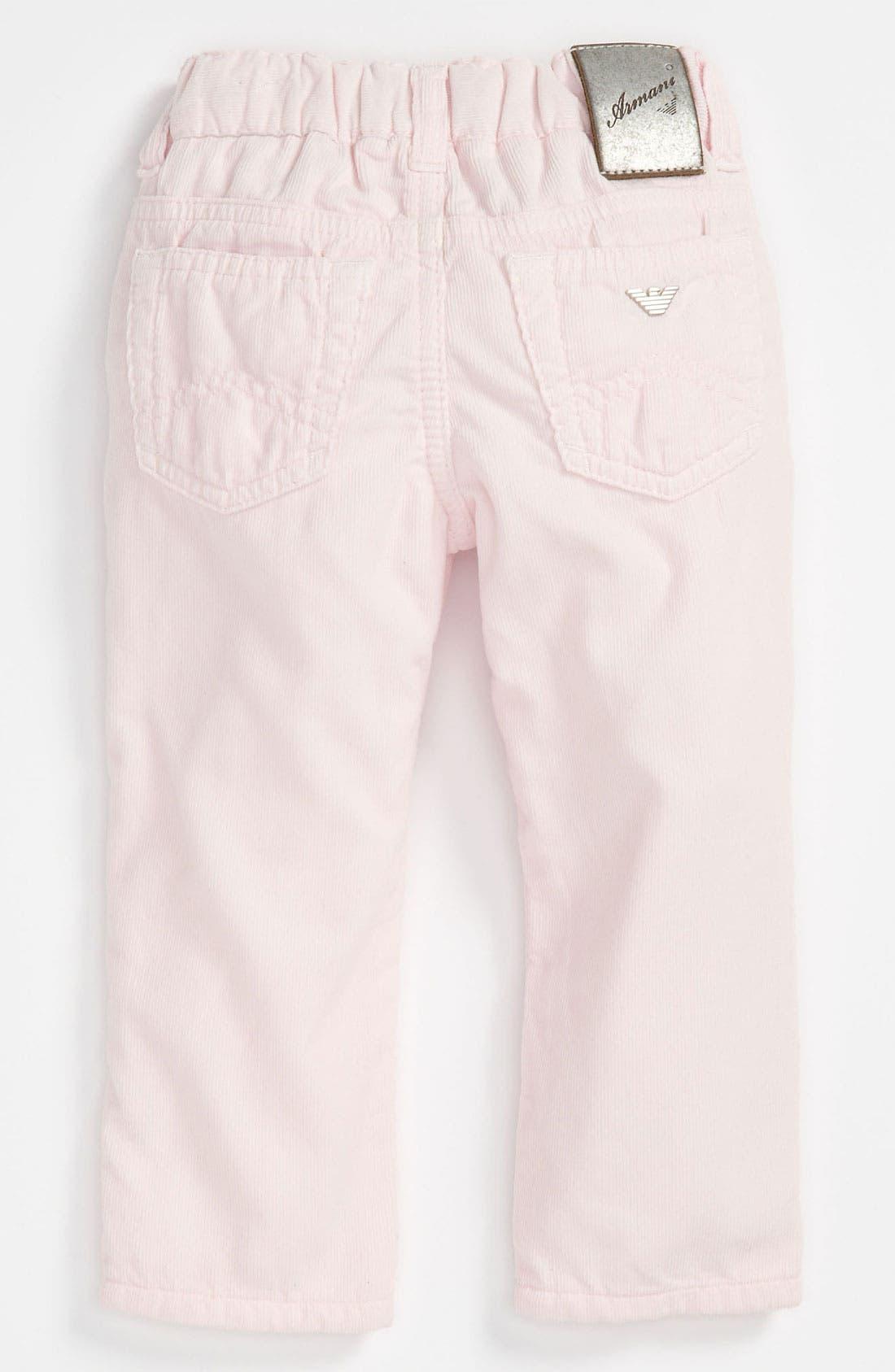 Main Image - Armani Junior Corduroy Pants (Infant)