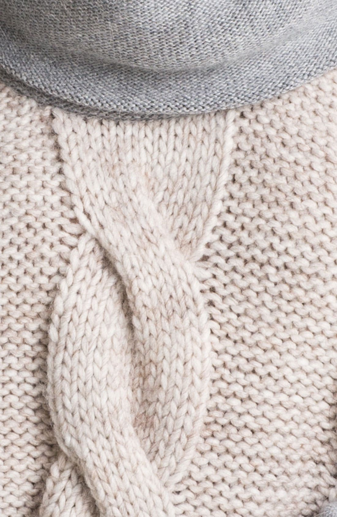 Alternate Image 3  - DKNYC Cable Front Sweater