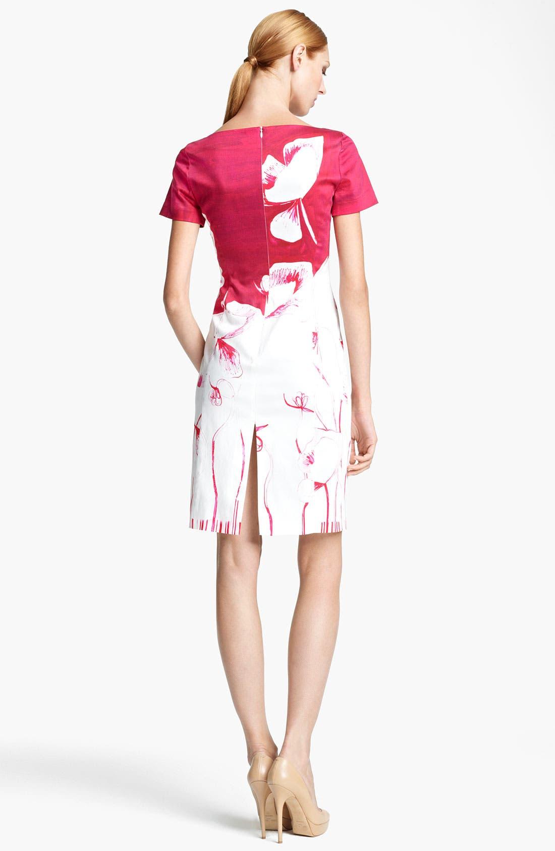 Alternate Image 2  - Piazza Sempione Poppy Print Stretch Cotton Dress