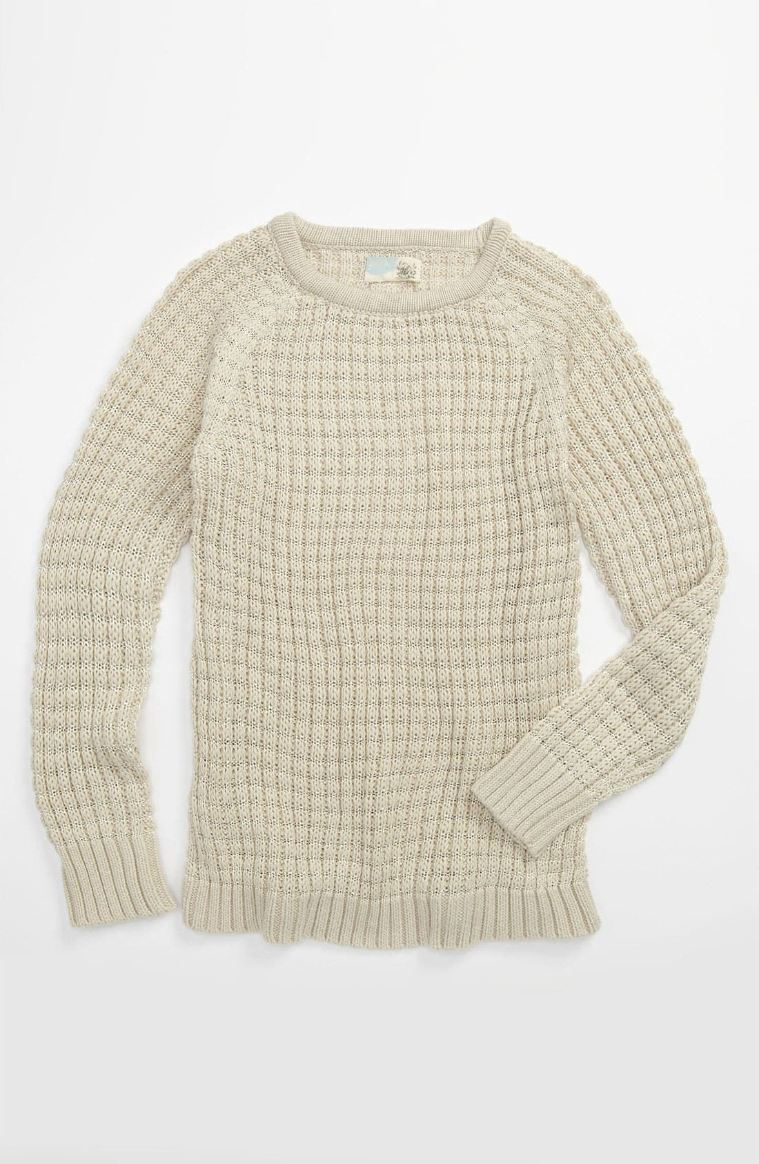 Alternate Image 1 Selected - Peek 'Tres' Sparkle Knit Crewneck Sweater (Toddler, Little Girls & Big Girls)