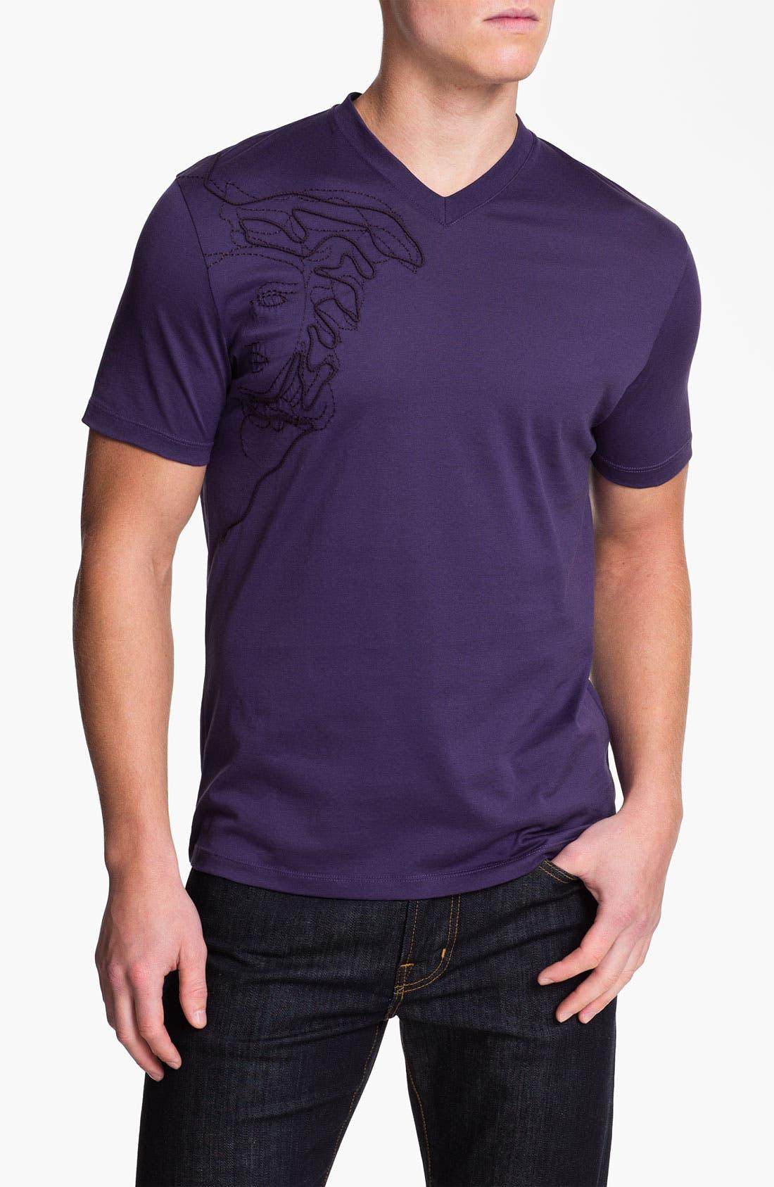 Alternate Image 1 Selected - Versace V-Neck T-Shirt