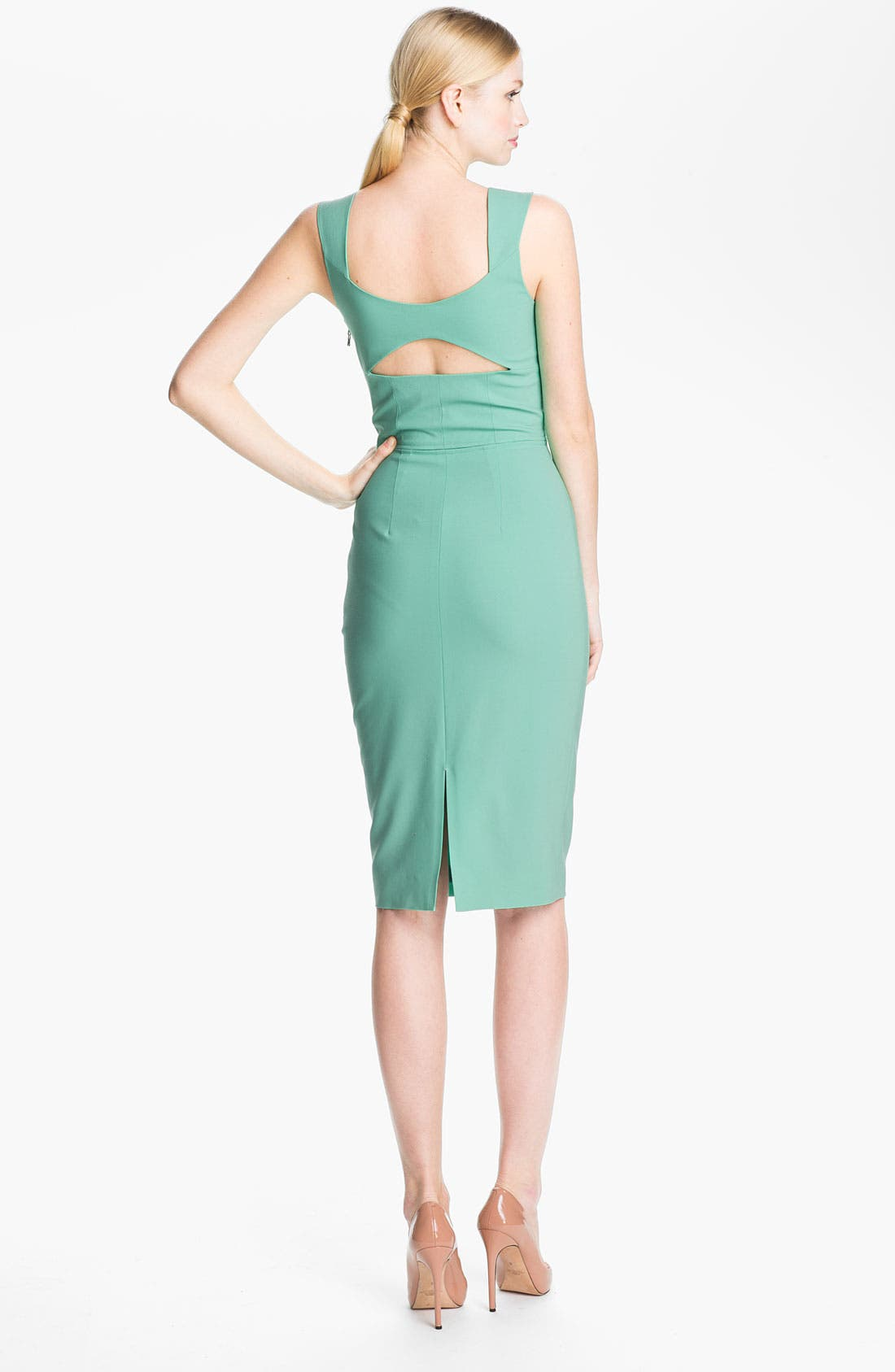 Alternate Image 2  - Rachel Roy Stretch Wool Sheath Dress