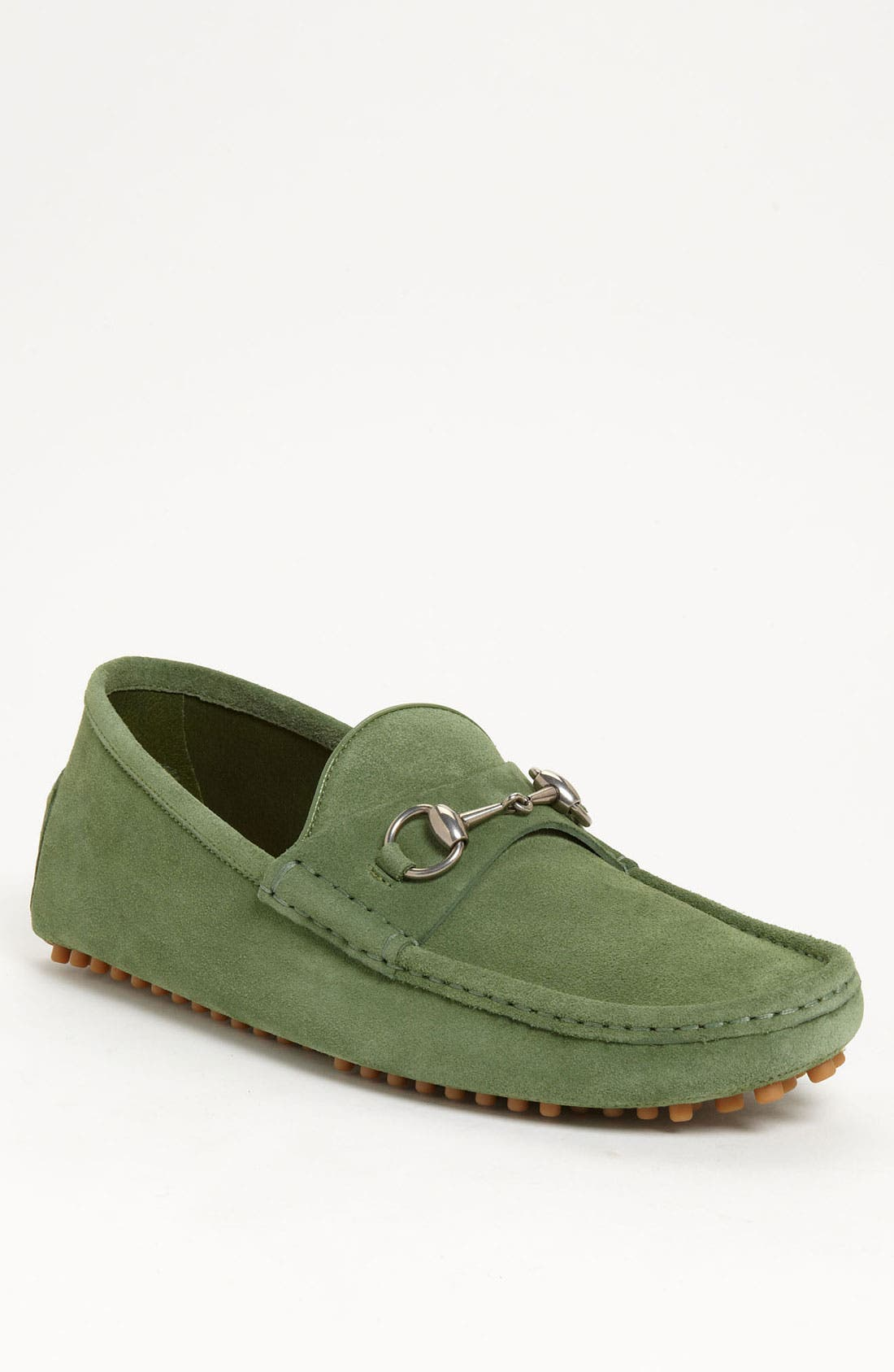 Alternate Image 1 Selected - Gucci 'Damo' Suede Driving Shoe