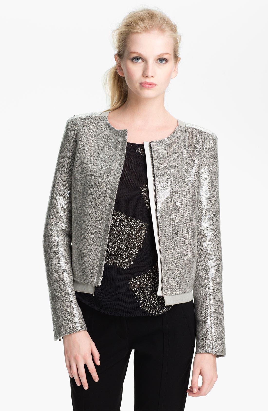 Alternate Image 1 Selected - Diane von Furstenberg 'Tamli' Sequin Crop Jacket