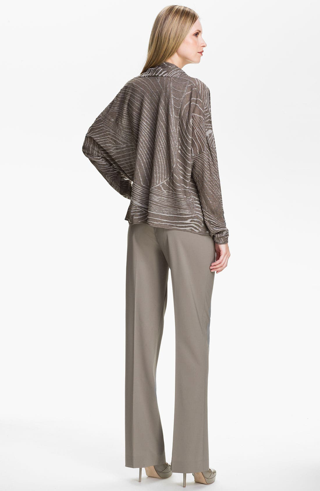 Alternate Image 5  - Lafayette 148 New York Jacquard Drape Front Cardigan