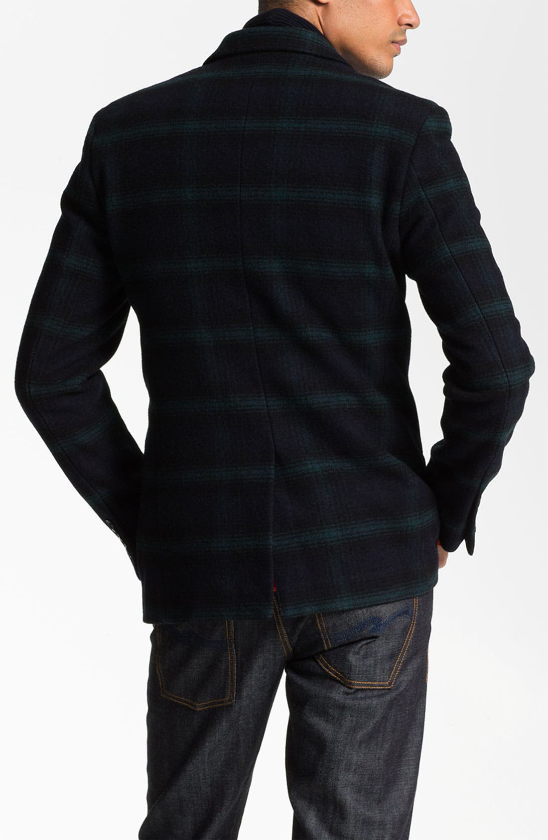 Alternate Image 2  - Scotch & Soda Wool Blend Blazer with Quilted Liner Vest